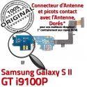 Samsung Galaxy S2 GT i9100P C Microphone MicroUSB Chargeur Connecteur ORIGINAL Qualité Nappe Charge RESEAU Antenne Prise OFFICIELLE