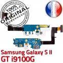 Samsung Galaxy S2 GT i9100G C Antenne Charge Chargeur MicroUSB Prise Qualité Microphone RESEAU Nappe ORIGINAL OFFICIELLE Connecteur