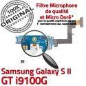 Samsung Galaxy S2 GT i9100G C Qualité Nappe OFFICIELLE Connecteur ORIGINAL RESEAU Charge Prise Antenne MicroUSB Chargeur Microphone