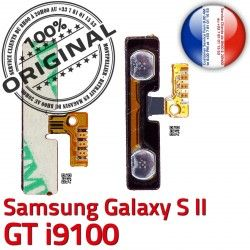 OR Pins S2 2 souder V ORIGINAL à i9100 Switch Galaxy Son S SLOT Bouton Samsung Volume Connector Dorés Nappe GT Contacts Connecteur Circuit