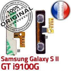 S V Bouton Switch Volume ORIGINAL GT SLOT Circuit Samsung à souder 2 Son Pins i9100G S2 Contacts Nappe Connector Dorés Connecteur OR Galaxy