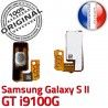 Samsung Galaxy S2 GT i9100G P Arrêt SLOT Bouton Connecteur Circuit Pin Switch à ORIGINAL Dorés Contacts Nappe 2 souder S Connector OR Marche