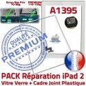 PACK iPad 2 A1395 Joint B Adhésif Precollé Verre Cadre Tablette Apple Vitre Blanche HOME PREMIUM Ecran Réparation Bouton Tactile iPad2