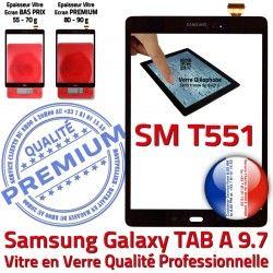 Noir Vitre SM-T551 TAB-A Assemblé Adhésif Galaxy Verre T551 N 9.7 Assemblée Qualité Supérieure Samsung Noire Ecran Tactile SM PREMIUM