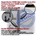 iPad AIR A1822 Noir Vitre Fixation Qualité Oléophobe Monté Tablette Tactile Adhésif Verre Nappe Caméra Ecran Réparation HOME IC