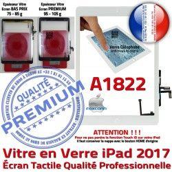 A1822 Ecran Verre Oléophobe IC Tablette AIR Adhésif iPad Blanc Tactile HOME Caméra Qualité Monté Nappe Vitre Fixation Réparation