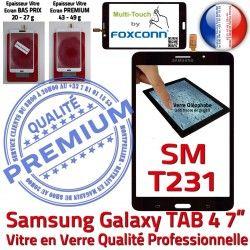 Verre Assemblée Tactile TAB4 Prémonté Adhésif SM-T231 7 PREMIUM Vitre inch Qualité Samsung Ecran LCD Supérieure N Galaxy Noire