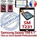Samsung Galaxy SM-T231 TAB4 N 7 Noire PREMIUM Qualité Ecran LCD Prémonté Verre Supérieure Assemblée Vitre inch Adhésif Tactile