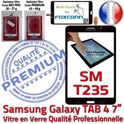 Vitre Prémonté Samsung Ecran NZWAXEF Noire Supérieure Qualité Verre Tactile PREMIUM N SM-T235 Adhésif LCD Assemblée Galaxy TAB4