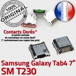Dorés USB à SM-T230 Samsung Chargeur Galaxy TAB4 Connector Tab4 Fiche Prise ORIGINAL Dock Pins SLOT souder charge MicroUSB de Qualité