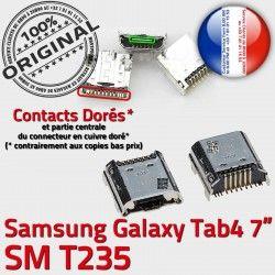 à souder Dorés Samsung Micro TAB Galaxy Dock 4 Prise Connecteur Tab de SM Chargeur ORIGINAL Connector inch T235 USB 7 charge Pins