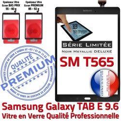 Metallic N Samsung TAB Qualité SM-T565 Galaxy Ecran Verre E Vitre 9.6 Noire Noir Assemblée Adhésif Tactile SM Prémonté T565 TAB-E PREMIUM Metal