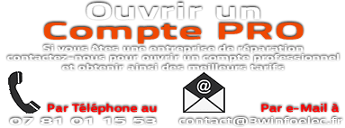 Contactez-nous pour ouvrir un compte professionnel et obtenir ainsi des meilleurs tarifs